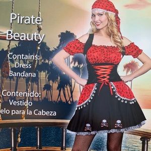 🎃 Dreamgirl Women's Pirate Skull 💀 Sexy Costume